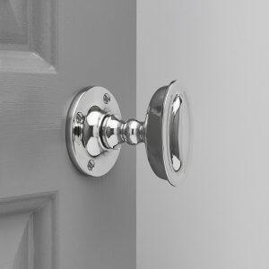 Raised Oval Door Knobs - Polished Nickel