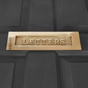 LETTERS Letterplate in Solid Brass