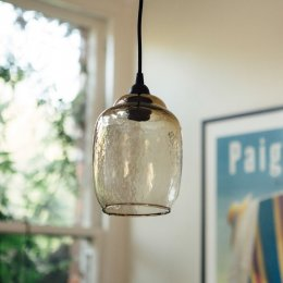 Hanging Amber Glass Pendant Light
