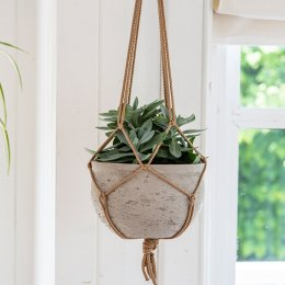 Hanging Cement Plant Pot - save 30%