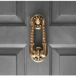 Sherlock Door Knocker - Aged Brass