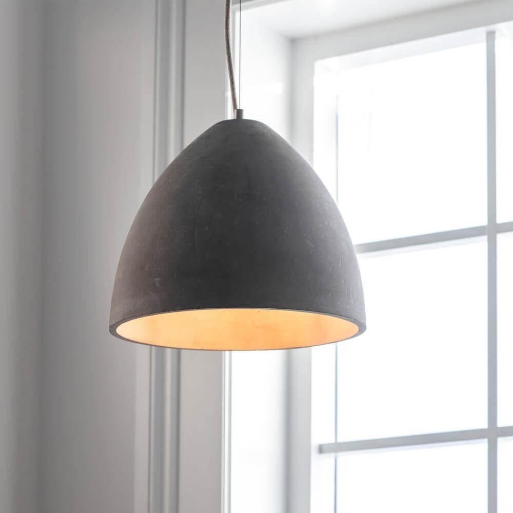 Concrete Dome Pendant Light - Large