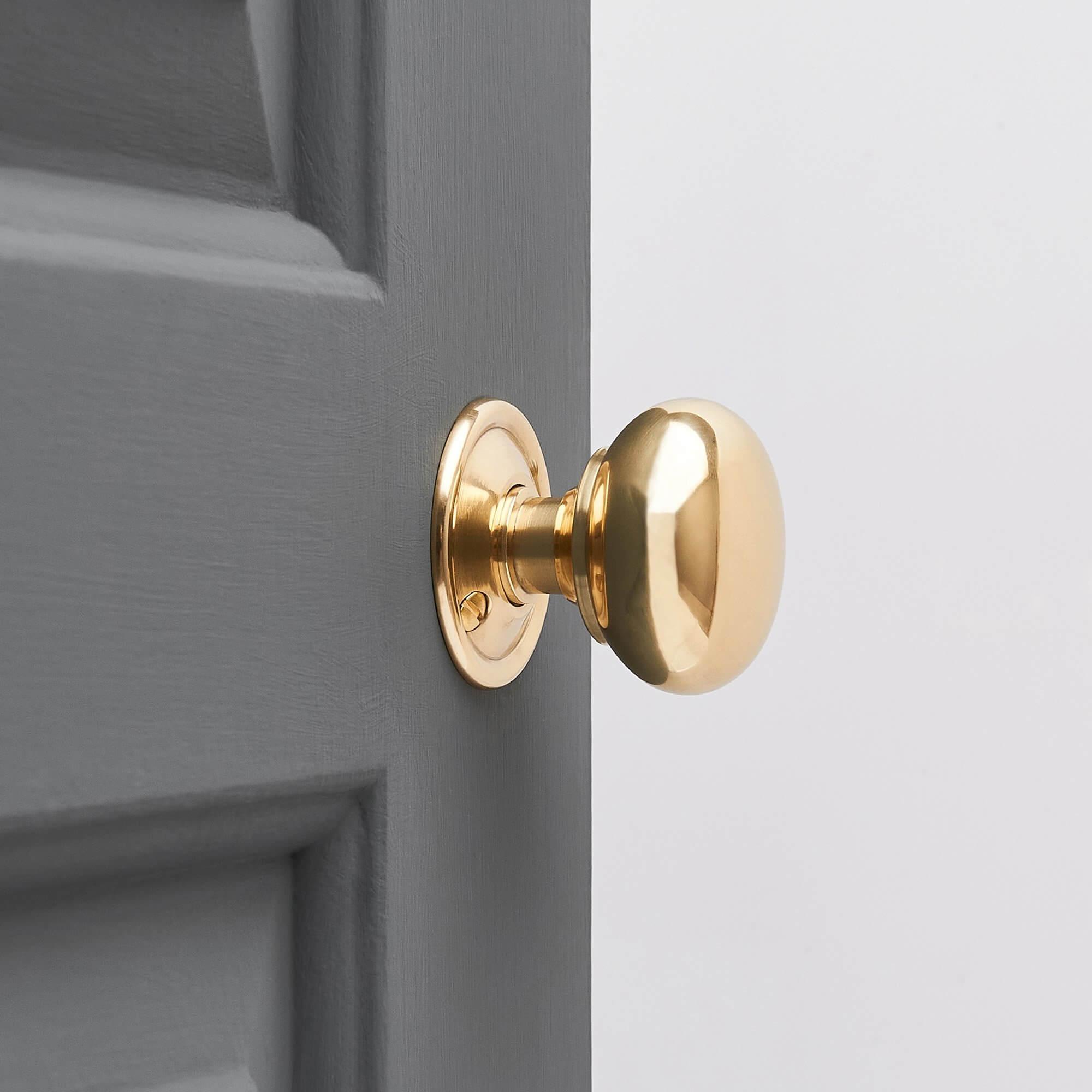 Cottage Door Knobs (Pair) - Brass