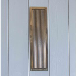 Chester Reeded Fingerplate- Brass