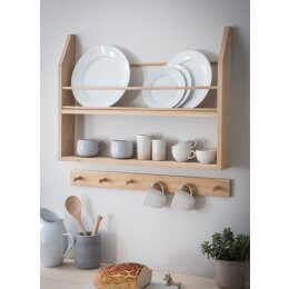 Raw Oak Plate Shelf