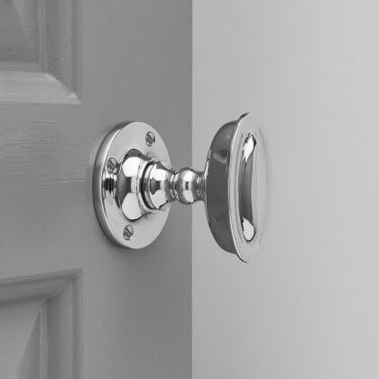 Raised Oval Door Knobs - Polished Nickel