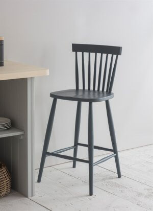 Spindle Bar Stool - Charcoal