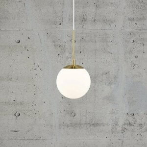 Opal Glass & Brass Pendant Light