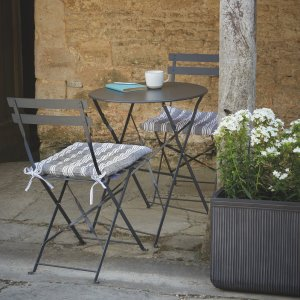 Metro Bistro Table Set & 2 Chairs