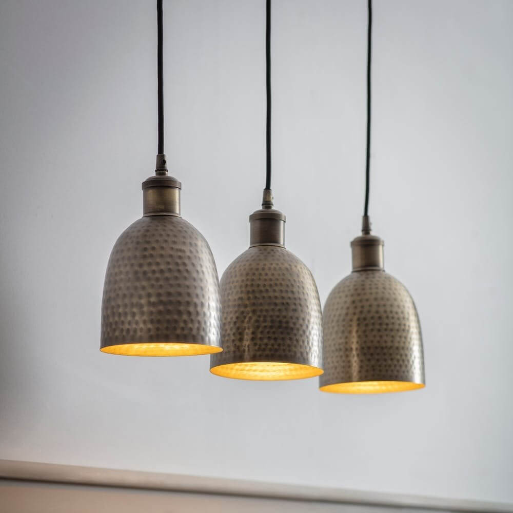Horus Trio Pendant Light - Antique Brass