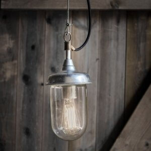 St Ives Galvanised Harbour Outdoor Pendant Light - save 15%