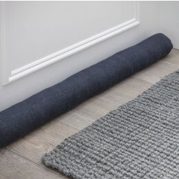 Linen Draught Excluder - Carbon