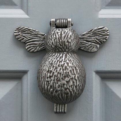 Bumble Bee Door Knocker - Antique Iron