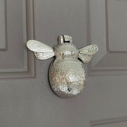 Bumble Bee Door Knocker - Nickel