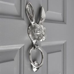Hare Door Knocker - Nickel