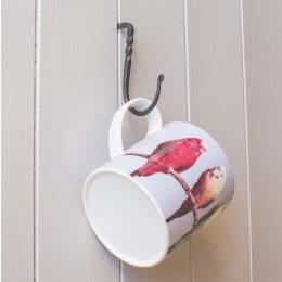Cup Hook - Black Waxed