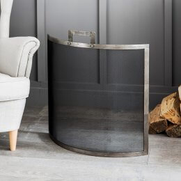Curved Firescreen - Pewter
