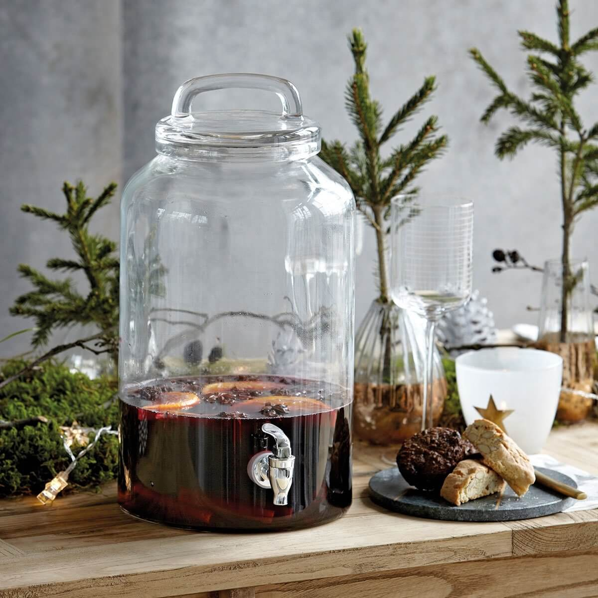 Glass Drinks Dispenser With Tap - SAVE 15%