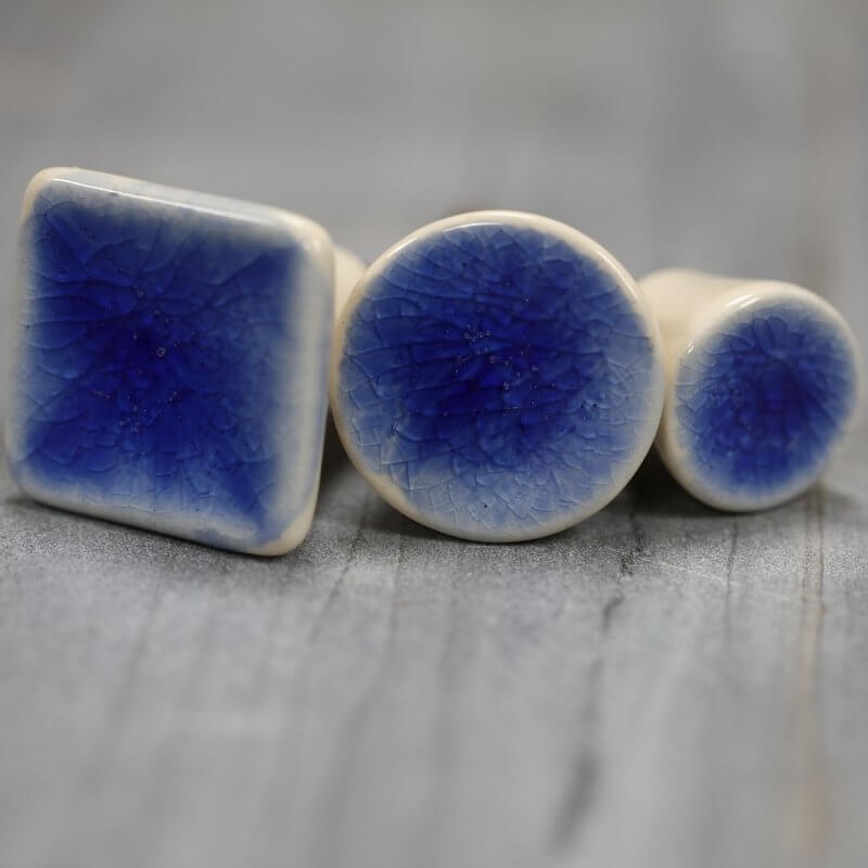 Ceramic Cabinet Knob - Blue