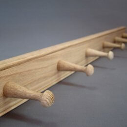 Oak Peg Rails - 6 Peg