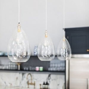 Wellington Clear Glass Pendant Light