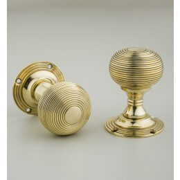 Beehive Empire Door Knobs (Pair) - Brass
