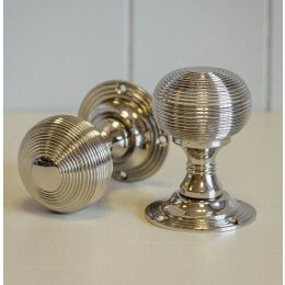 Beehive Empire Door Knobs (Pair) - Nickel - SAVE 15%