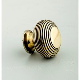Beehive Large Cabinet Knob - Aged Brass - SAVE 30%