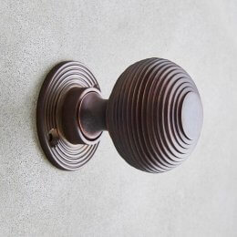 Beehive Door Knobs (Pair) - Aged Bronze save 10%