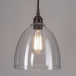 Bell Glass Pendant Light - Large