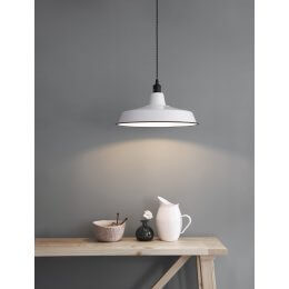 Bentley Pendant Light - White Wide