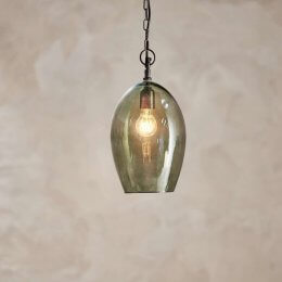 Green Smoke Glass Pendant Light