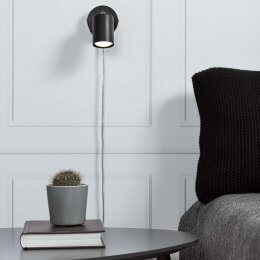 Greger Wall Spotlight - Black