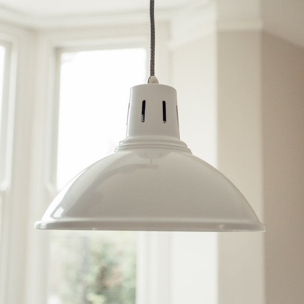 Milan Pendant Light - White