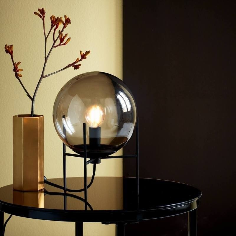 Blown Smoked Glass Table Lamp