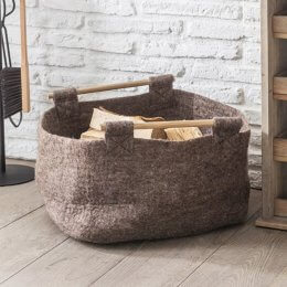 Natural Basket with Wooden Handles - save 30%