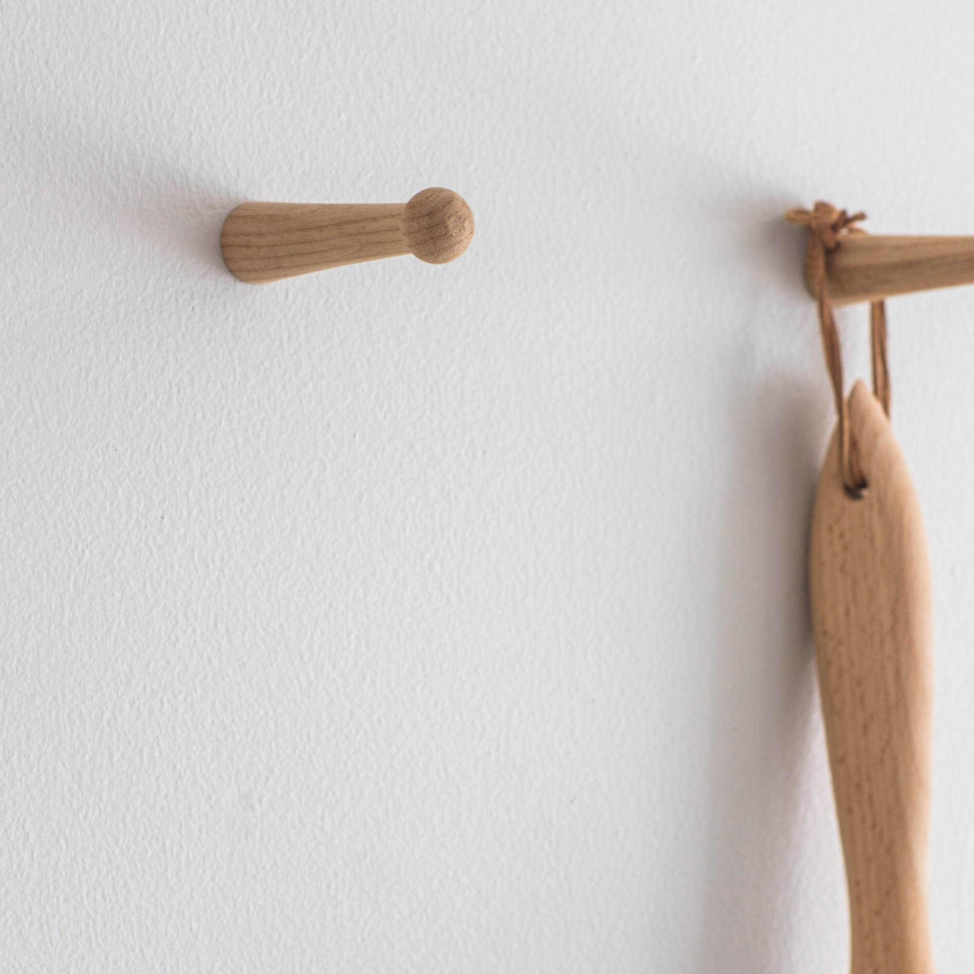 Oak Peg Hooks - Set of 2 save 15%