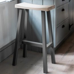Tall Clockhouse Stool - Charcoal