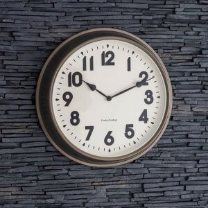 Gunmetal Indoor / Outdoor Clock Large