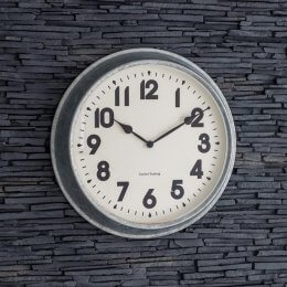 Indoor/Outdoor Galvanised Steel Clock - Large save 25%
