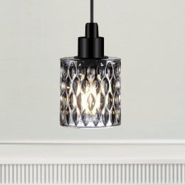 The Crystal Pendant Light - Smoke Glass