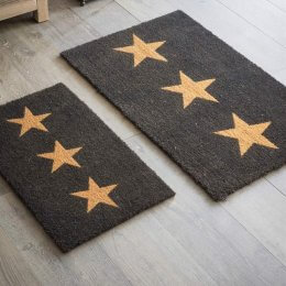 Three Stars Door Mat