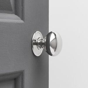 Cottage Door Knobs (Pair) - Nickel