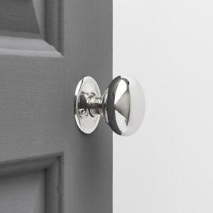 Cottage Door Knobs Small (Pair) - Nickel