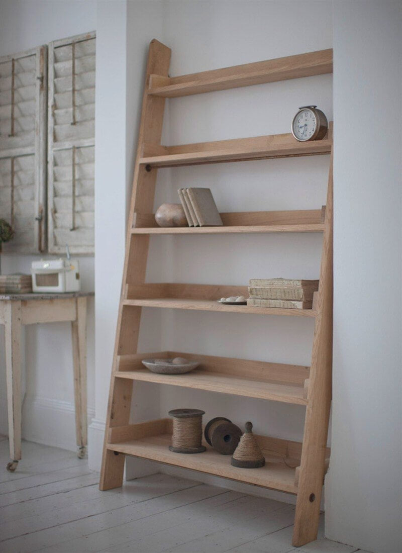 Oak Ladder Shelf - Large