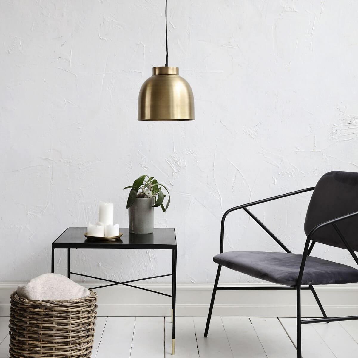 Brass Bowl Pendant Light - Small
