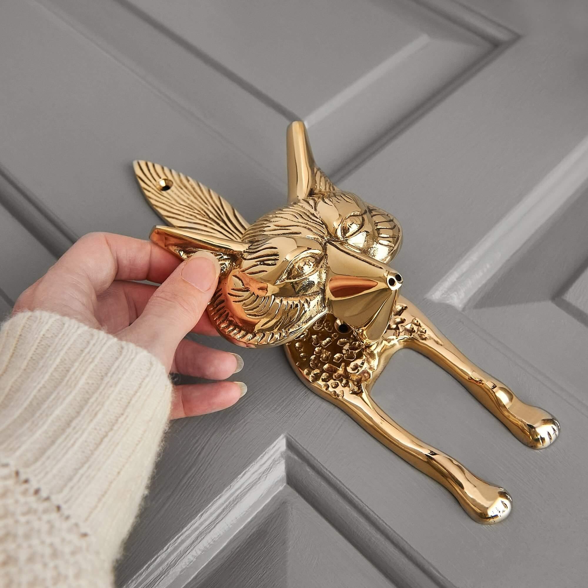 Fox Door Knocker - Brass