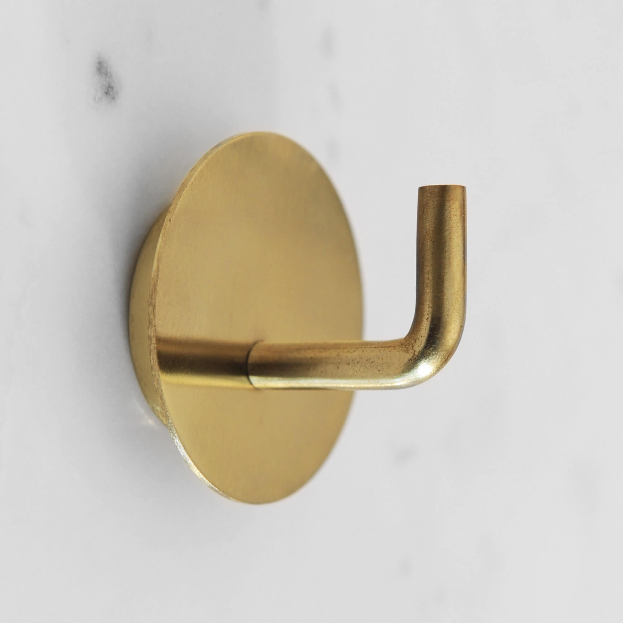 Brass Hook with Backplate