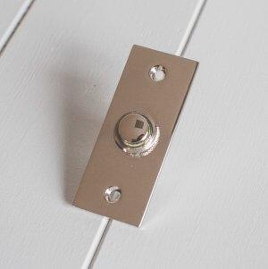 Rectangular Bell Push- Polished Nickel