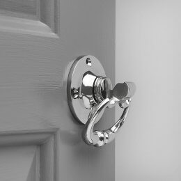 Dutch Drop Ring Door Handles (Pair) - Nickel